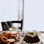 Ciambella al cioccolato con farina di riso, carote, mandorle e arancia1853