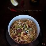 Noodles con carne e pak choi_1647