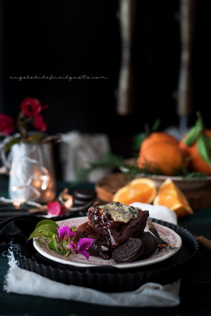 Orange oreo cheesecake brownies1296