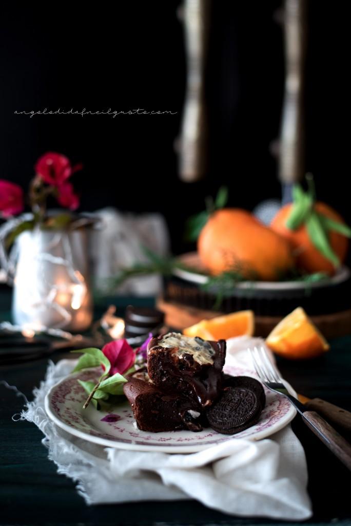 Orange oreo cheesecake brownies1297