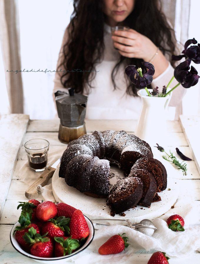 Bundt cake al cioccolato, mandorle e ricotta 4858