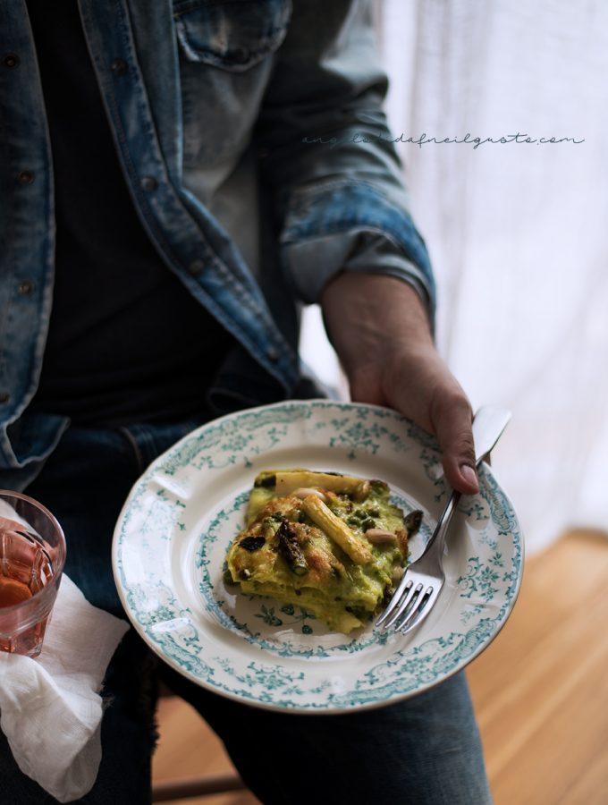 Lasagne agli asparagi e piselli 5044