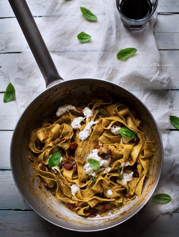 Pappardelle con pomodorini al forno e erbe aromatiche 62